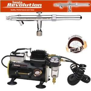 ) Airbrushing System with Smart Jet Air Compressor Home & Kitchen