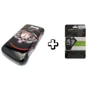 BUNDLE LG Optimus Q Black Wing Skull + CLEAR LCD SCREEN