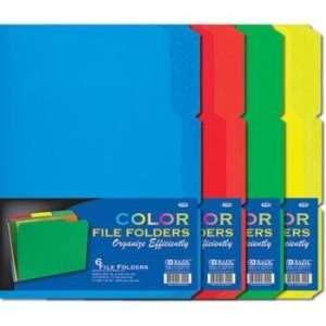 Cut Letter Size Color File Folder, 6 Per Pack