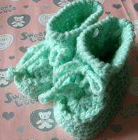 pair Newborn baby Infant girls Knitting Crochet Shoes