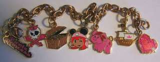 Disney Pirate Princess Charm Bracelet with 7 Cute Charms   New on Card