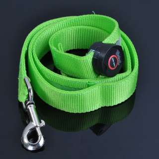 LED Dog Pet Flashing Light Up Collar/Belt Green/Blue/Orange/White/Pink