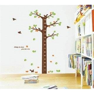 Growth Chart with Quote Wall Sticker Decal for Kids Room