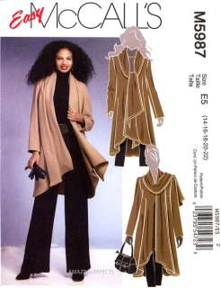 Pattern M5987 Womens 14 22 Coat jacket Misses clothing sewing 5987
