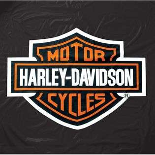 Branded Products Harley Davidson Black Vinyl Table Cover