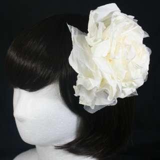 COLORS FLOWER HAIR CLIP ACCESSORY BROOCH UNIQUE FASCINATOR WEDDING