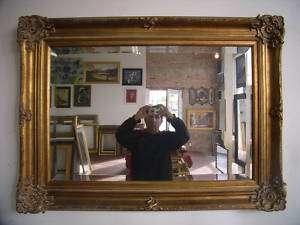 Ornate Gold Framed Wall/Mantle Beveled Mirror 33.5x45.5