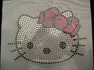 bow hello kitty rhinestone iron on transfer   choose design 6 by 4