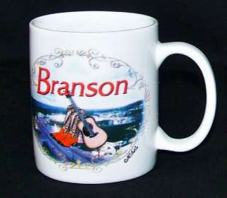 MC Art Branson Missouri Coffee Mug Cup Country Guitar