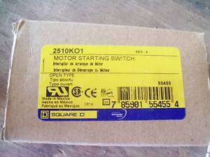 SQUARE D 2510K01 MOTOR STARTING SWITCH NEW IN BOX
