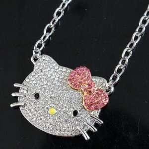 Hello Kitty HUGE Rhinestone/Crystal Swarovski necklace by Jersey Bling