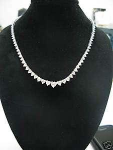 135,000 24.99Ct Heart Shape Diamond Graduated Necklace
