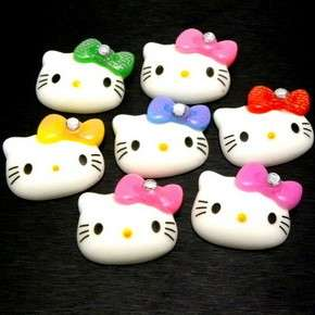 pcs) Mix Hello Kitty 22MM Big Bow Resin Flatback Scrapbooking Cabochon