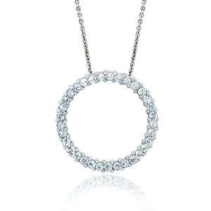 Glitzy Rocks Sterling Silver Blue Topaz Circle Necklace Jewelry