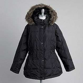 Plus Quilted Faux Fur Hood Jacket  Weather Tamer Clothing Womens Plus