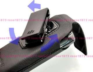 NEW Leather Case Swivel Holster Belt Clip for BlackBerry Torch 9800