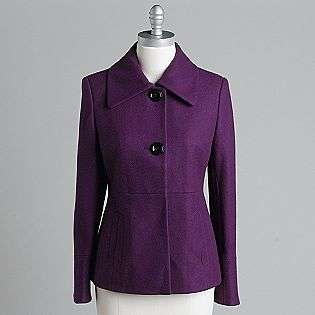 Womens Short Wool Swing Coat  Apostrophe Clothing Womens Outerwear