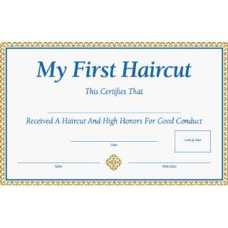 my first haircut certificate template asbo certificate bad haircut on popscreen