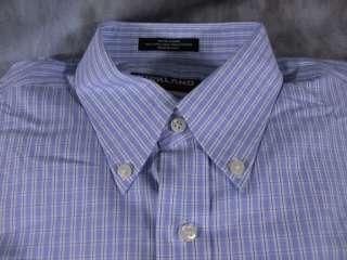 NEW Kirkland Mens No Iron Dress Shirt Blue White Check