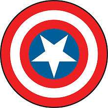 Roommates Captain America   Vintage Shield Peel & Stick Giant Wall