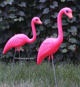 12 Large Plastic Pink Flamingos 34 Yard/Lawn Ornaments