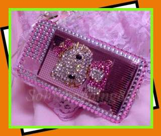 New Pink Hello Kitty 3D Bling Crystal Hard Case Cover For LG Optimus