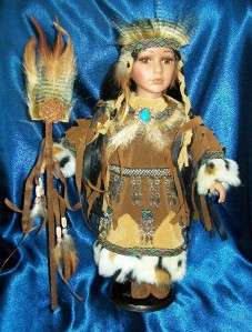 16 IN. INDIAN Reproduction PORCELAIN DOLL SAKARI