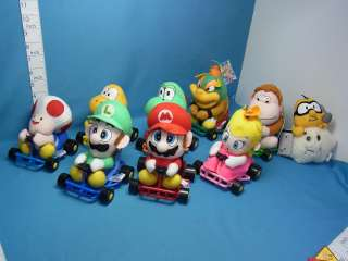 Super Mario Kart Plush doll 9pcs Takara Prize Japan Very  Rare