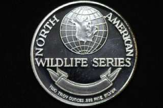 Rare North American Wildlife Series 2 Troy Oz. Grizzly Bear Proof