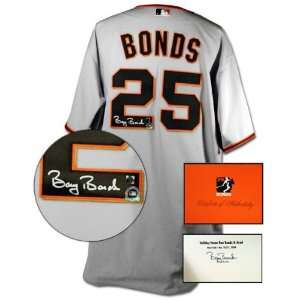 Barry Bonds San Francisco Giants Autographed Majestic Authentic Road