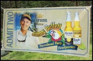 Jimmy Buffett Corona Parrothead Party Headquarters Large Banner 36 x