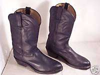Mens Durango Black Leather Cowboy Western Rancher Riding Boots