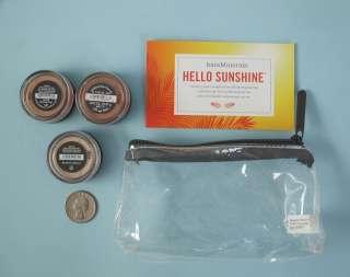 Escentuals HELLO SUNSHINE 3 piece Collection Set Kit plus Bag