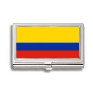 Colombia Colombian Flag Business Card Holder Metal Case