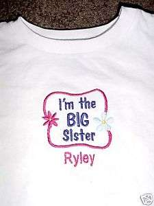 Personalized Im the Big Sister Middle Little Shirt