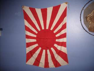 VTG WWII WAR ERA JAPANESE ARMY MILITARY 16 RAY RISING SUN FLAG antique