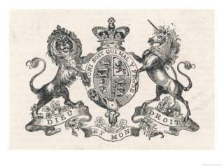 The Royal Coat of Arms of Queen Victoria Giclee Print at AllPosters