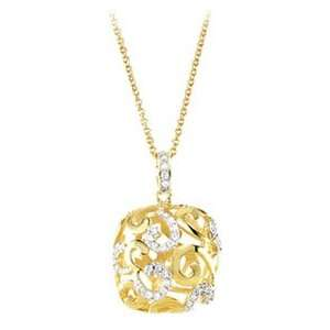 14K Yellow Gold Plated Necklace   16 Inch with 2 Extender Jewelry
