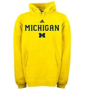 Michigan Wolverines adidas Gold Football Sideline Hoodie