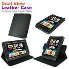 rooCASE Dual View Leather Case Cover for Nook Color Nook Tablet Black