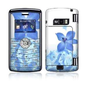 LG enV3 (VX9200) Decal Skin   Blue Neon Flower Everything