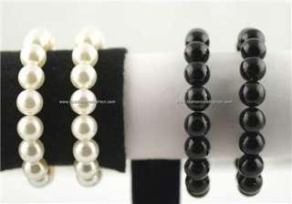 Faux Pearl SetNecklace,Bracelet,Earrings.10mm/20 mm
