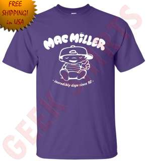 Mac Miller Incredibly dope knock hip hop rap t shirt Wiz halifa tee