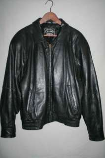 Tannery West Mens vintage black Dupont Thermolite leather jacket size