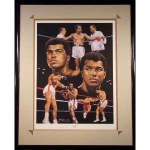 Ali Autographed Litho   Autographed Boxing Art