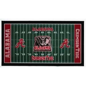 NCAA Alabama Crimson Tide XL Football Field Mat
