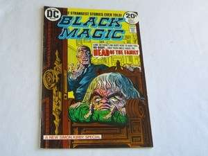 OLD 1973 DC BLACK MAGIC #1 COMIC BOOK KIRBY SIMON fine