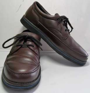 MENS Cardovan Leather Oxford Shoes 10.5 EW Hush Puppies $11 SHIPPING