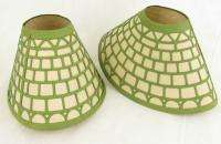 Antique Early Embossed Paper Lamp Shades Set of 2 1900s