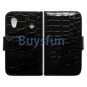 Wallet Leather Case For Samsung Galaxy Ace S5830 + screen film